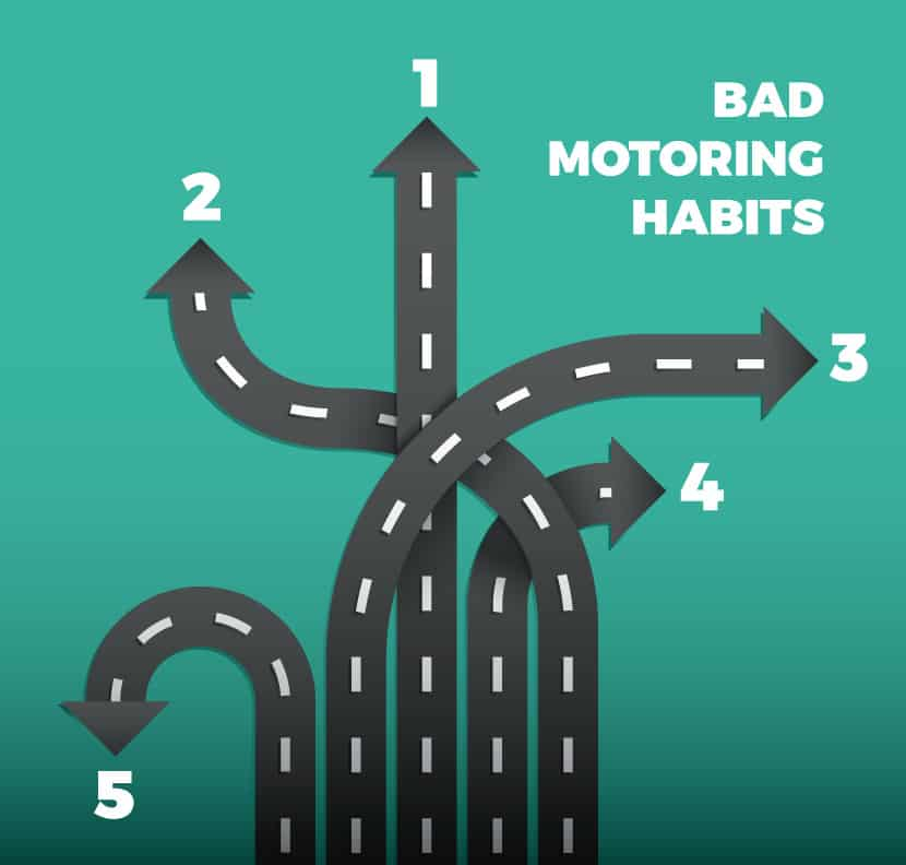 5 bad motoring habits