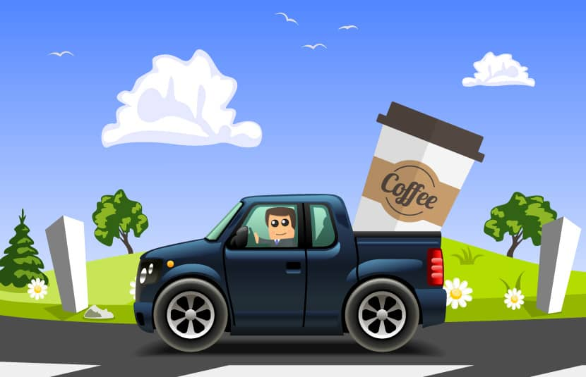 coffee and driving