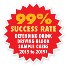 drink driving blood sample flash